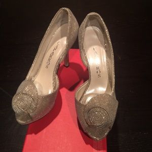 Sparkly champaign shoes