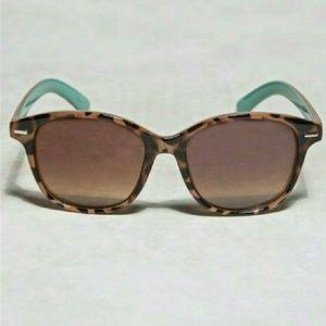 Mint & Tortoise Shell Sunglasses Gold Accent