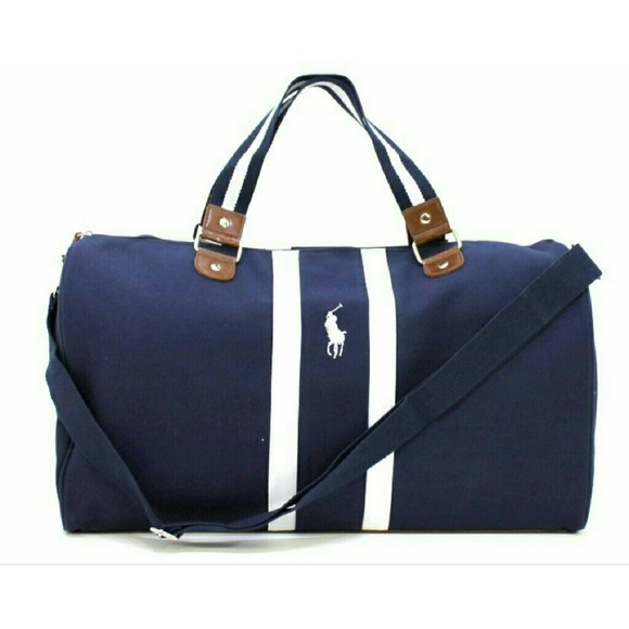 6f4fc41390 Ralph Lauren Polo Blue Navy White New Weekend Bag.  M 5753c6e22de512947305133c