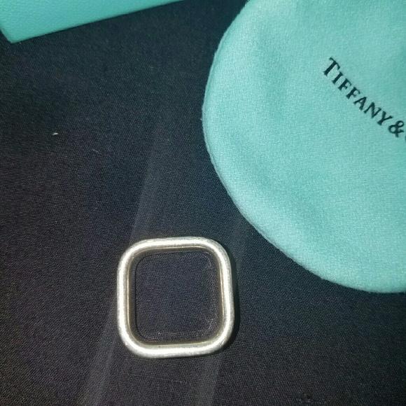 64 Off Tiffany Amp Co Jewelry Tiffany Amp Co Square Silver