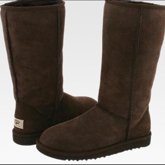 b17540d820b Ugg Australia Classic Tall Boot in Chocolate Brown