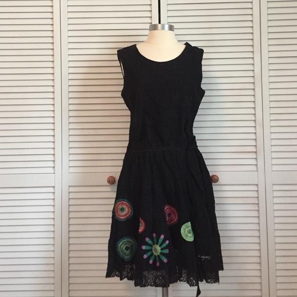 Desigual dress black and white oxford