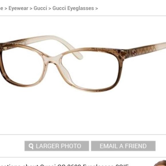 e9101277d9 Gucci Accessories - Gucci GG 3699 Eyeglasses Brown Diamond