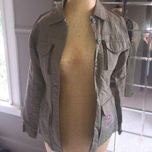 Chipie Jackets & Blazers - Army green khaki jacket with detail