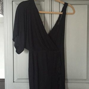 Bebe Rayon Black Wrap dress