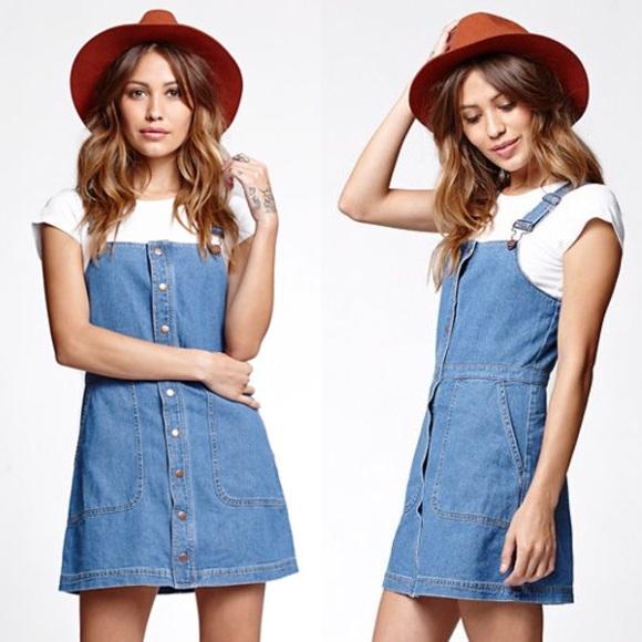 7bd28b6748 Button-Up Overall Dress. M 575450402de512533a05a05c
