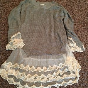 Spool 72 Sweaters - EUC Spool 72 Sweater with Lace. S/M
