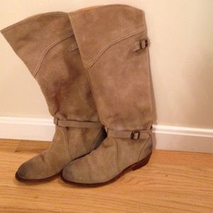 Tan suede Frye boots size 6