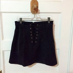 LF Corduroy Lace Up Skirt