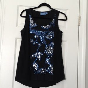 Simply Vera Vera Wang sleeveless top with sparkles