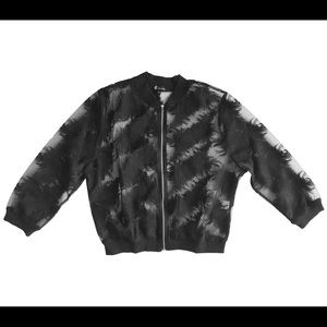 Feather embroidered jacket