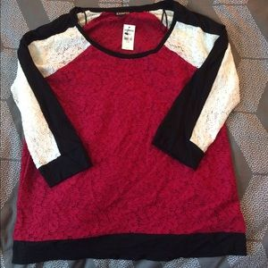 Express Lace Blouse Size L