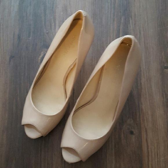 Nine West Nude Peep Toe Heels