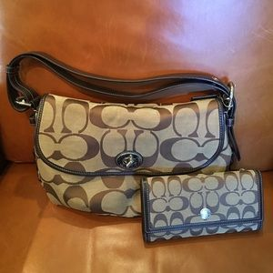 Coach Handbags - Coach Jacquard Print Purse & Wallet