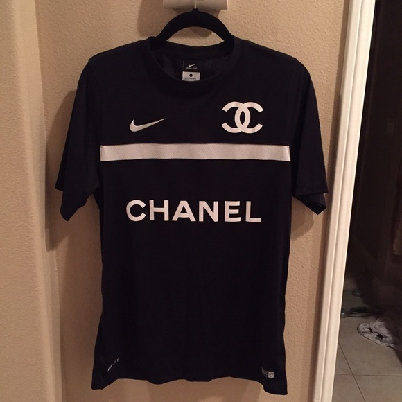chanel jersey. nike tops - chanel collaboration soccer jersey