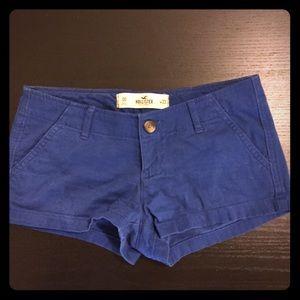 Cobalt blue hollister shorts