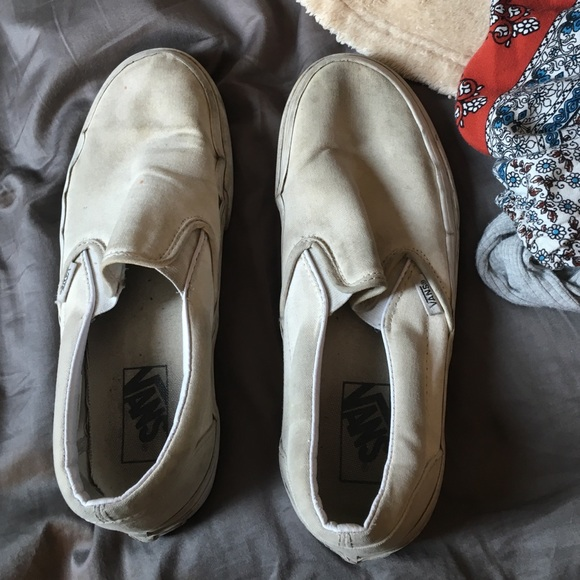 Vans Shoes | Dirty White Vans | Poshmark