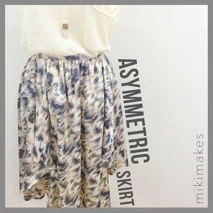 [ portmans ]  printed high-low asymmetric skirt