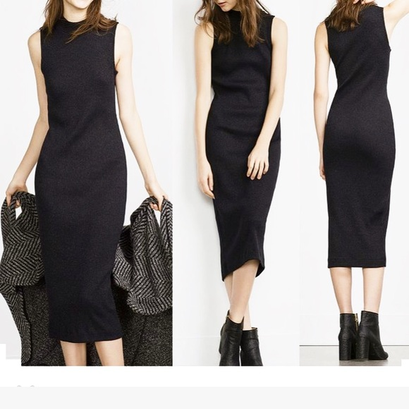 d8792acb2830 Zara Dresses | Trafaluc Sleeveless Bodycon Ribbed Midi Dress | Poshmark