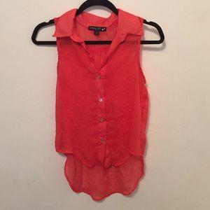 Living Doll LA sheer sleeveless blouse