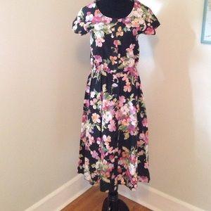 Vintage Button Down Floral Dress