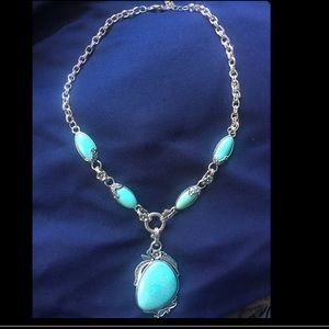 Novadab Jewelry - Antique Turquoise Tibet Necklace by Novadab.
