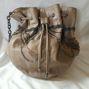 Melie Bianco Chain Bucket Bag