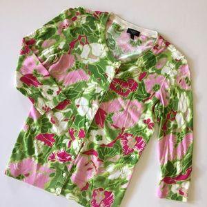 Talbots Sweaters - Talbots floral cardigan - petite