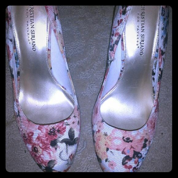 a4837e6c0be Floral Print Heels