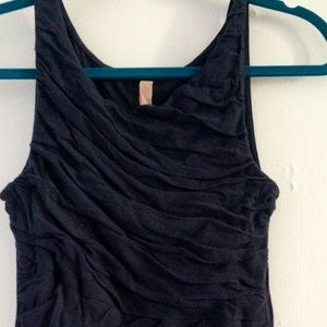 Anthropologie Tops - Anthropologie Indigo Tulle Top EUC