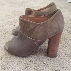 Belle by Sigerson Morrison Shoes - Belle by Sigerson Morrison Grey Suede Bootie