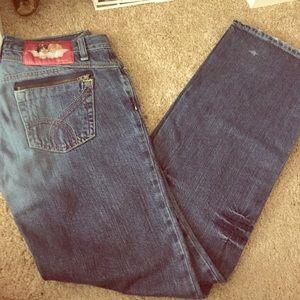 Never worn Size 7 Fiorucci boot cut jeans