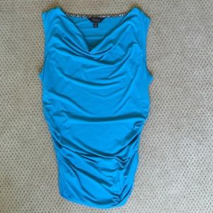 Teal Polyester/Spandex Top 