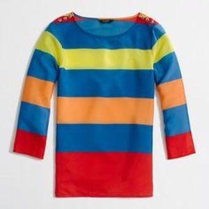 J.Crew Factory Tops - 🛍J. Crew Factory Nautical Silky Shirt