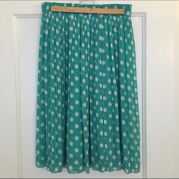 Everly Skirts - Pleated polka dot skirt