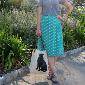 Everly Dresses & Skirts - Pleated polka dot skirt