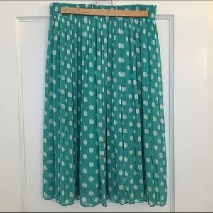 Everly Skirts - Pleated polka dot skirt