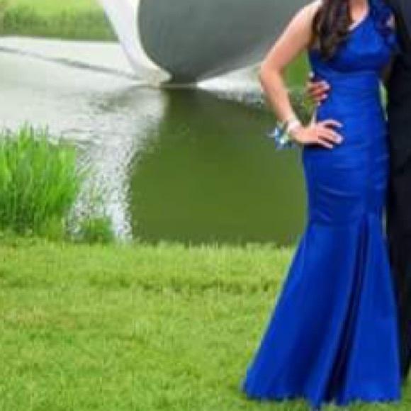 Davids Bridal Dresses Beautiful Sapphire Blue Mermaid Prom Dress