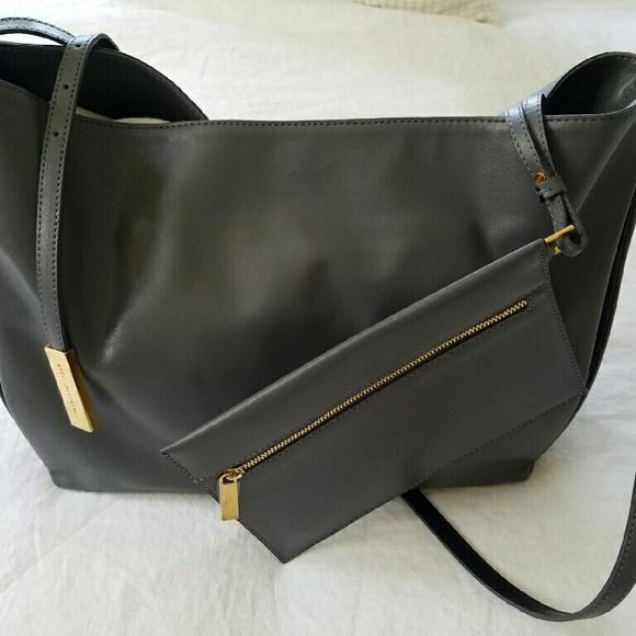 5c93ee5cd0eb STELLA MCCARTNEY Small Beckett Bag in Grey w Gold.  M 5754971fb4188e3fd406345a