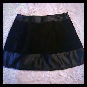 Black silk and velvet skirt