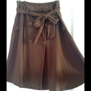 ✂️NWOT Anthropologie Coat Button Skirt