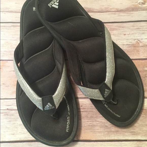 ee26af6ac47ba5 Adidas Shoes - ADIDAS Fit Foam Glitter flip flops