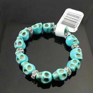Michaels Jewelry - Torquoise Color Skull Bracelet