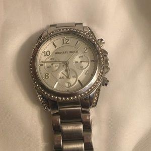 Michael Kors chronograph white stainless steel