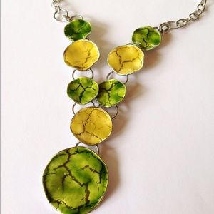 Jewelry - Yellow & Green Statement Necklace
