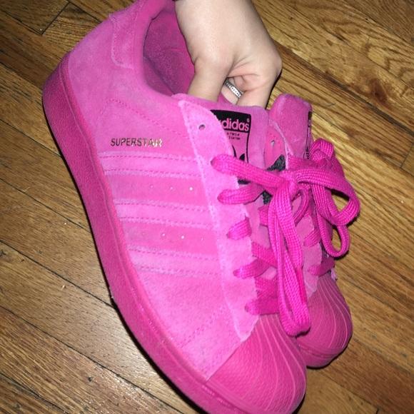 Le adidas superstar poshmark camoscio rosa caldo