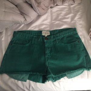 Current Elliot green jean shorts