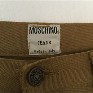 tan vintage moschino jeans