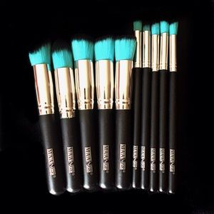 Other - 10 Professional Makeup Brushes Blue