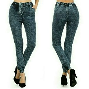 ***NWT*** High Waist Denim Joggers